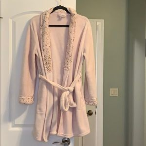 Womens Capelli NY Baby Pink Belted Robe
